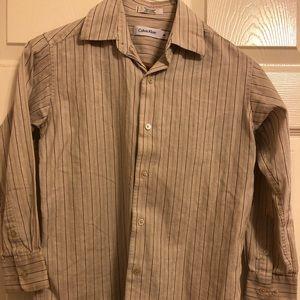 Calvin Klein boys button down shirt